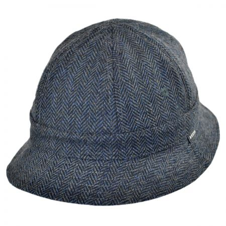 Brixton Hats Banks Reversible Cotton Bucket Hat - Navy/Grey