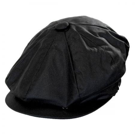 Jaxon Hats Waxed Cotton Newsboy Cap