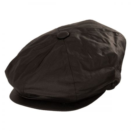 Jaxon Hats Waxed Cotton Newsboy Cap