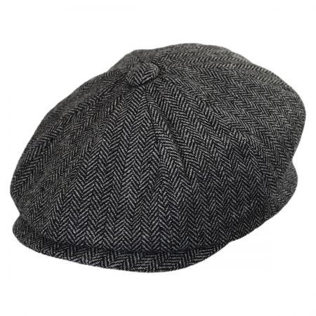 Jaxon Hats Kids' Herringbone Wool Blend Newsboy Cap