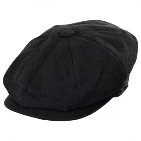Linen and Cotton Newsboy Cap alternate view 21