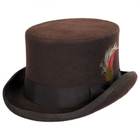Mid Crown Wool Felt Top Hat alternate view 24