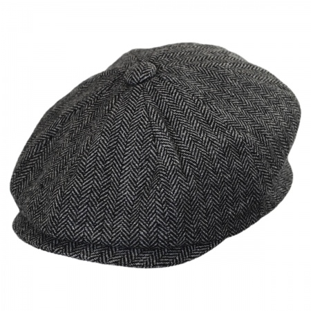 B2B Kids' Herringbone Wool Blend Newsboy Cap