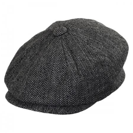 B2B Kids' Herringbone Wool Blend Newsboy Cap