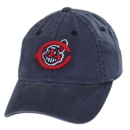 American Needle Cleveland Indians MLB Raglan Strapback Baseball Cap