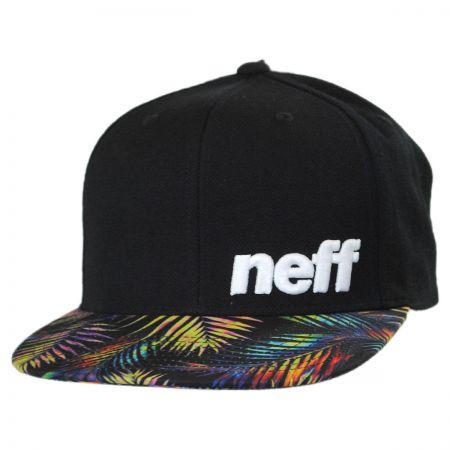 Neff Black Palm Daily Pattern Snapback Baseball Cap