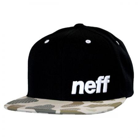 Neff Black Camo Daily Pattern Snapback Baseball Cap
