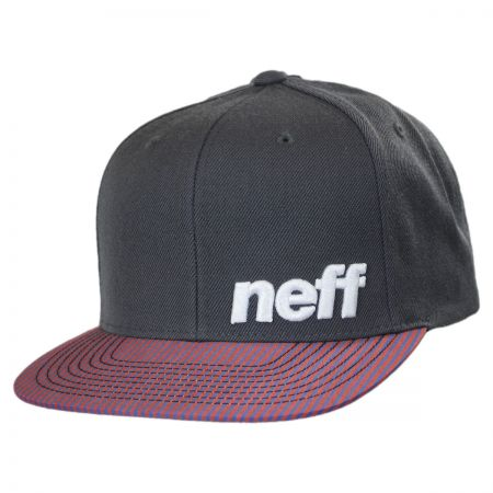 Neff Charcoal Stripe Daily Pattern Snapback Baseball Cap