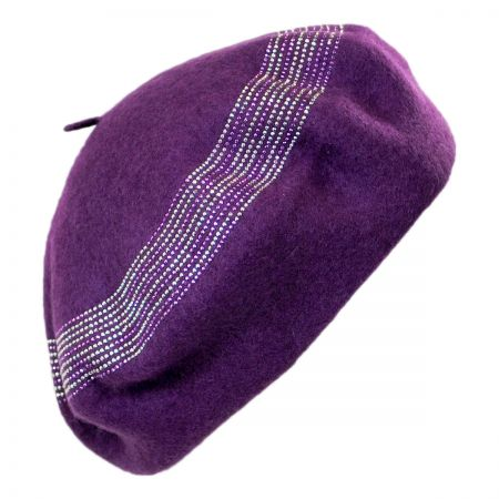 Something Special Crystals Wool Beret