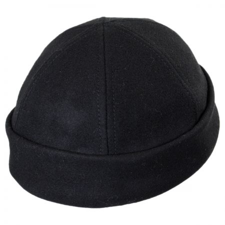 Six Panel Wool Skull Cap Beanie Hat