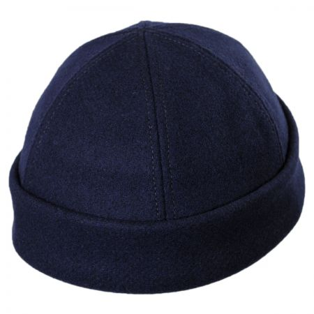 Six Panel Wool Skull Cap Beanie Hat alternate view 7