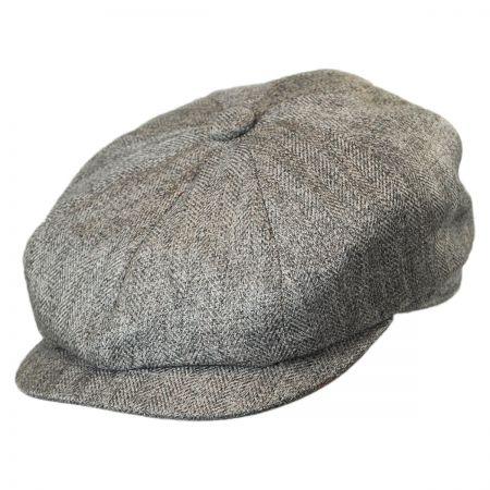 Stetson Marled Herringbone Newsboy Cap