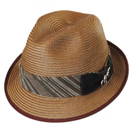 Carlos Santana 8 Track Straw Trilby Fedora Hat