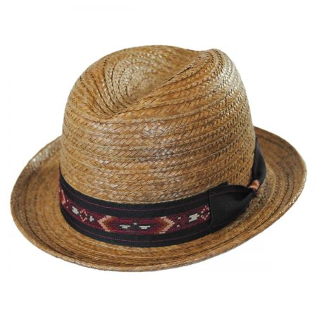 Carlos Santana Coco Coconut Straw Fedora Hat
