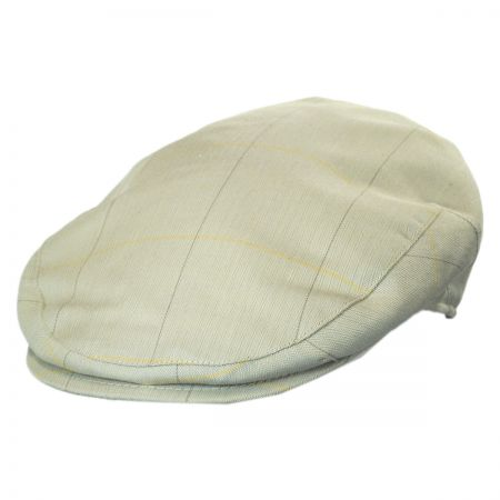 Stetson Windowpane Herringbone Cotton Blend Ivy Cap