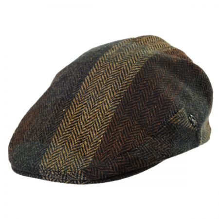 City Sport Caps Donegal Tweed Herringbone Squares Ivy Cap