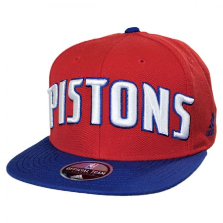Mitchell & Ness Detroit Pistons NBA adidas On Court Snapback Baseball Cap