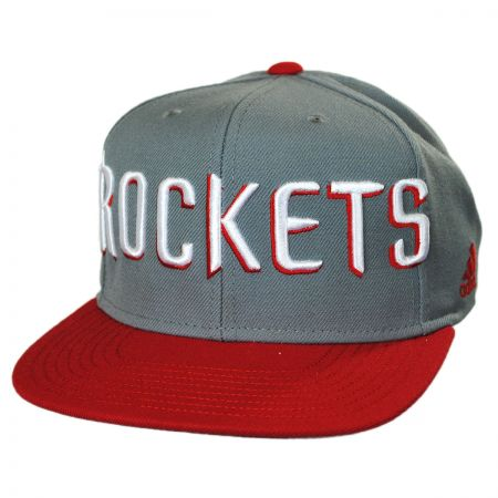 Mitchell & Ness Houston Rockets NBA adidas On Court Snapback Baseball Cap