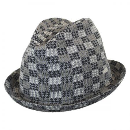 Kangol Houndscheck Jacquard Player Fabric Fedora Hat