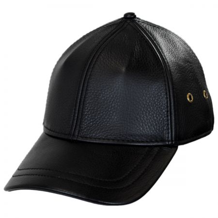 Stetson Timber Leather Adjustable Baseball Cap