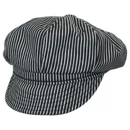 Engineer Striped Cotton Newsboy Cap alternate view 1
