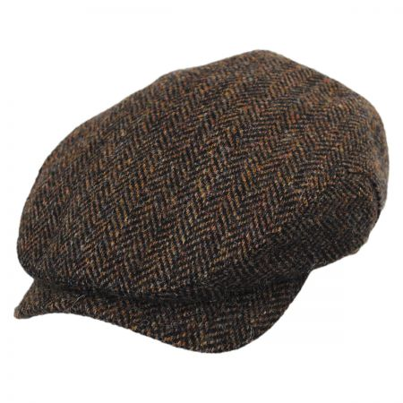 Wigens Caps Herringbone Harris Tweed Wool Ivy Cap