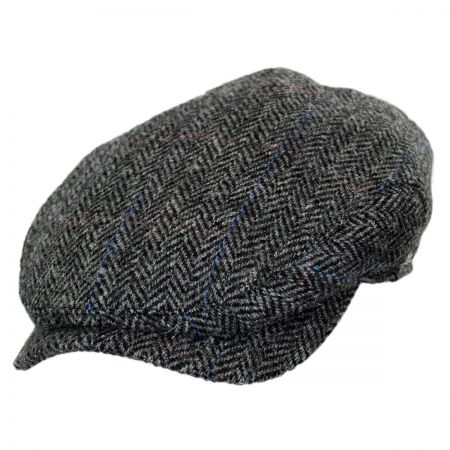 Wigens Caps Herringbone Check Harris Tweed Wool Ivy Cap