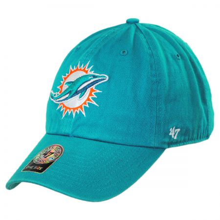 47 Brand Miami Dolphins NFL Clean Up Strapback Baseball Cap