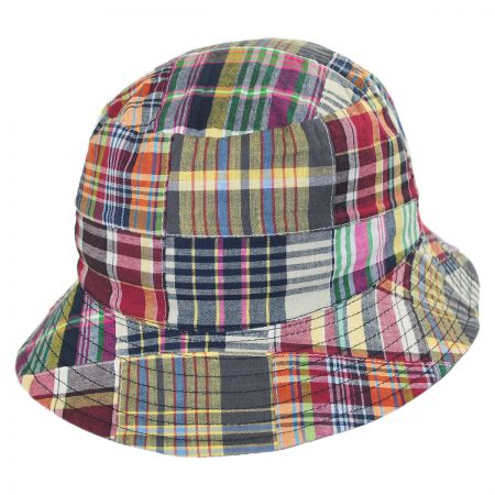 Stetson Reversible Madras Plaid Bucket Hat