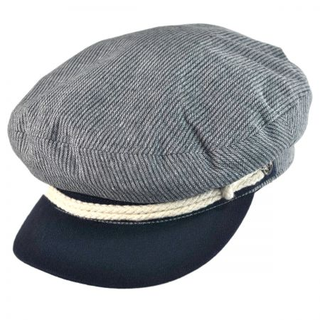 Brixton Hats Striped Cotton Fiddler Cap