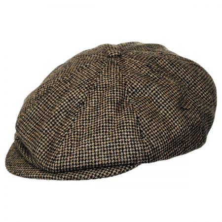 Brixton Hats Brood Houndstooth Wool Blend Newsboy Cap