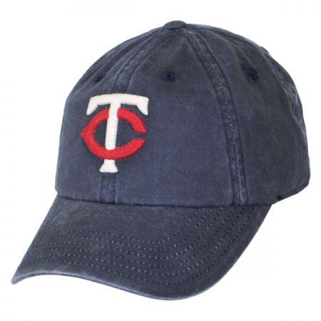 Minnesota Twins MLB Raglan Strapback Baseball Cap Dad Hat alternate view 1