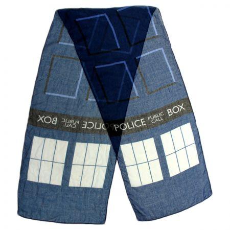 TARDIS Lightweight Scarf alternate view 1