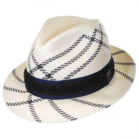 Carlos Santana Utopia Shantung Straw Fedora Hat