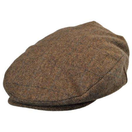 Brixton Hats Barrel Plaid Ivy Cap Tan/Brown