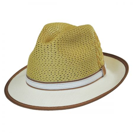 Carlos Santana Brishen Vent Straw Fedora Hat