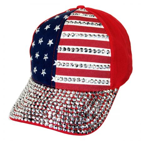 Something Special USA Flag Stud Adjustable Baseball Cap