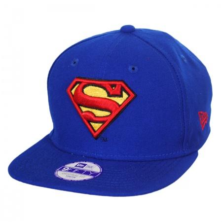 New Era DC Comics Superman Block Back 9Fifty Youth Snapback Baseball Cap