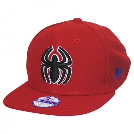 New Era Marvel Comics Spiderman Block Back 9Fifty Youth Snapback Baseball Cap