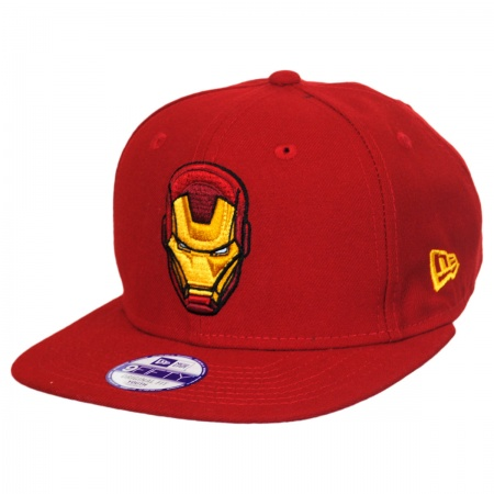 New Era Marvel Comics Iron Man Block Back 9Fifty Youth Snapback Baseball Cap