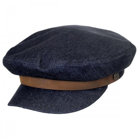 Brixton Hats Dark Denim Cotton Fiddler Cap