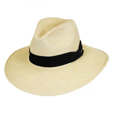 Stetson Destiny Panama Straw Wide Brim Fedora Hat