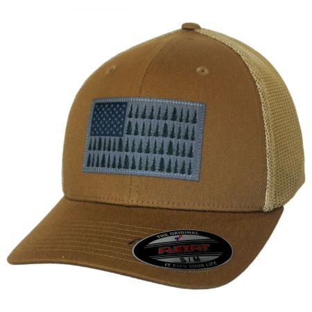 Columbia Sportswear Tree Flag Mesh Flexfit Fitted Baseball Cap