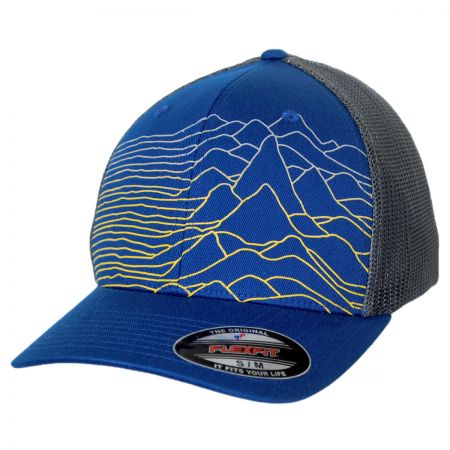 Columbia Sportswear Mesh Flexfit Cap with Mountains