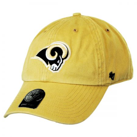 St. Louis Rams NFL Clean Up Strapback Baseball Cap Dad Hat alternate view 1