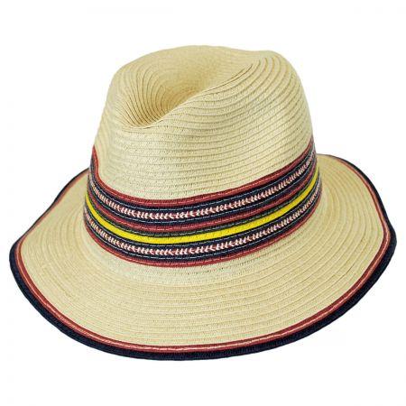 Coney Island Toyo Straw Fedora Hat alternate view 1
