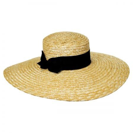 Brooklyn Hat Co Liberty Wheat Straw Wide Brim Boater Hat