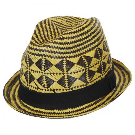 Brooklyn Hat Co Na-Pali Toyo Straw Stingy Brim Fedora Hat