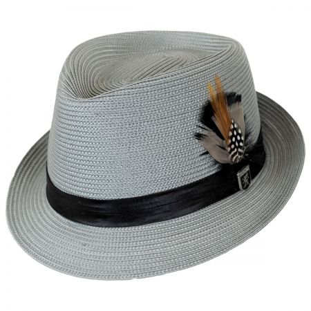 Stacy Adams Polybraid Straw C-Crown Fedora Hat