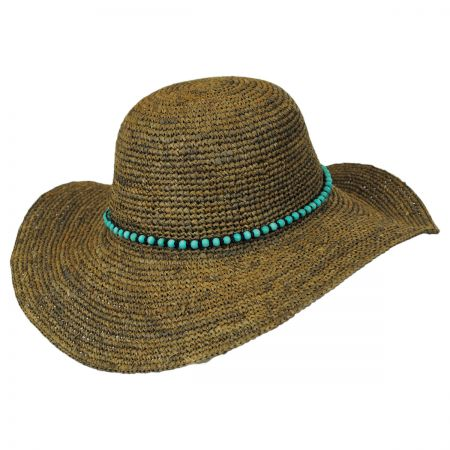 Callanan Hats Beaded Band Straw Swinger Hat